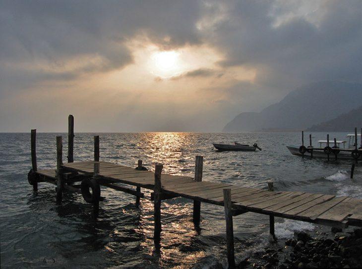 Sunset at Lake Atitlan in Guatemala