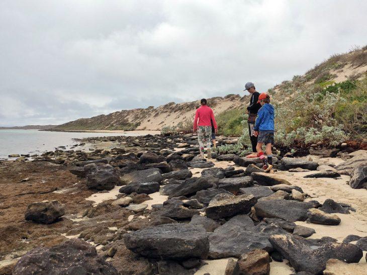 Rock Hopping at Coral Bay