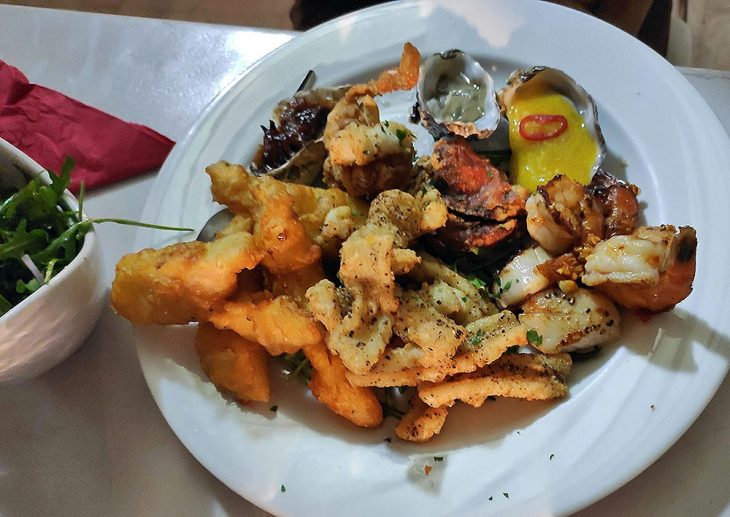 Seafood Dish at Coral Bay
