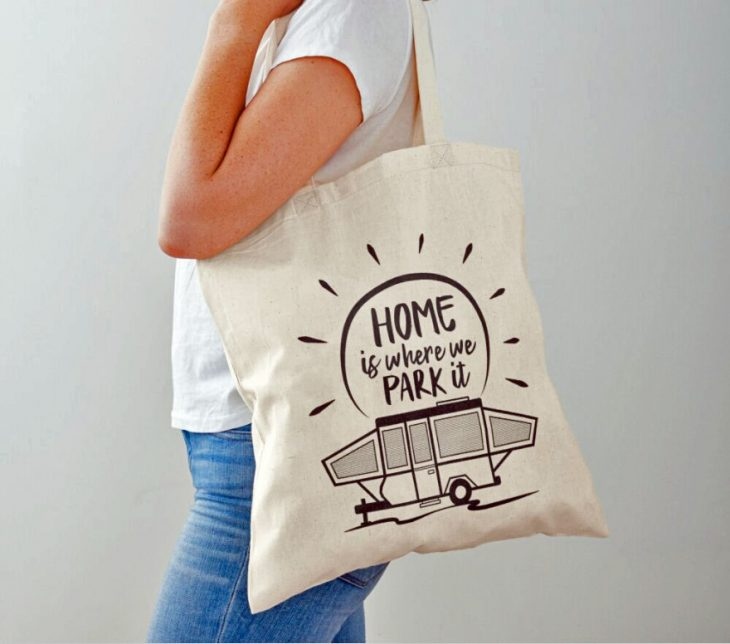 home is where you park it tote