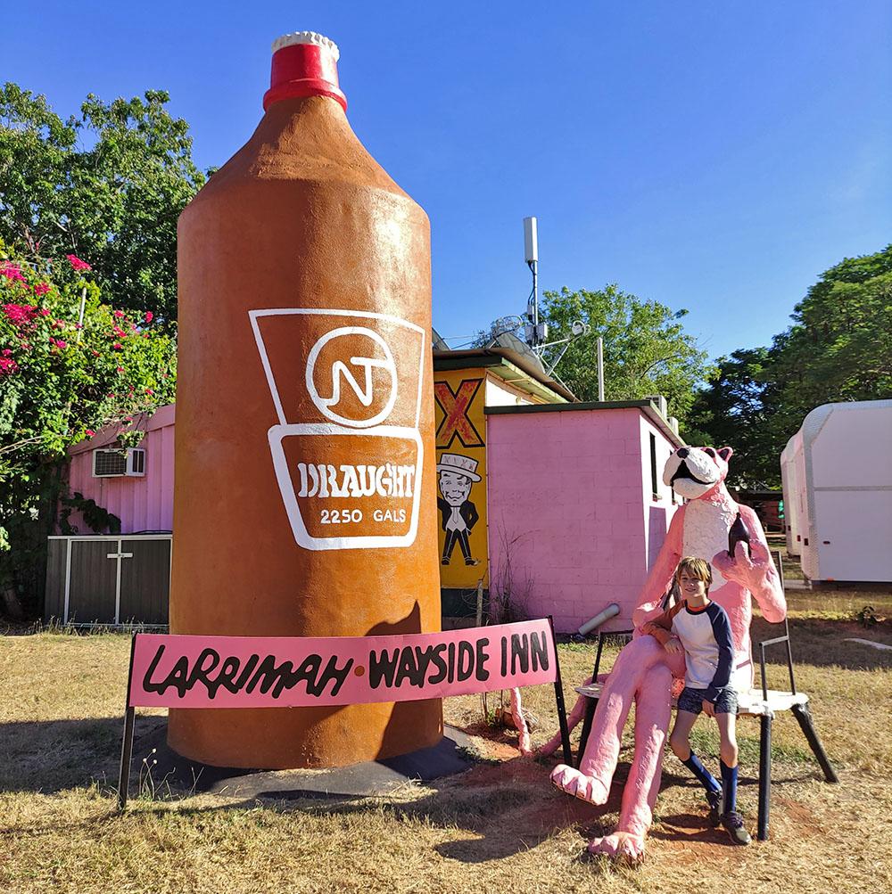 Big NT Draft Beer Bottle Larrimah