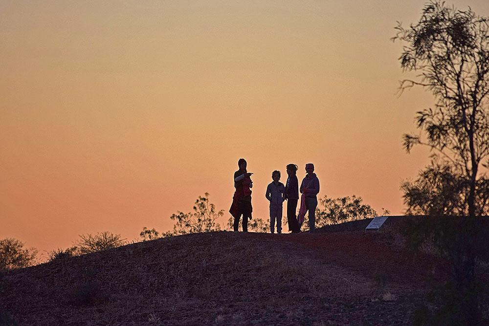 Sunrise at Henbury Meteor Crater