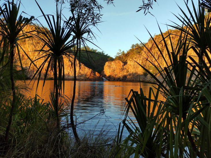 Sunset at Edith Falls