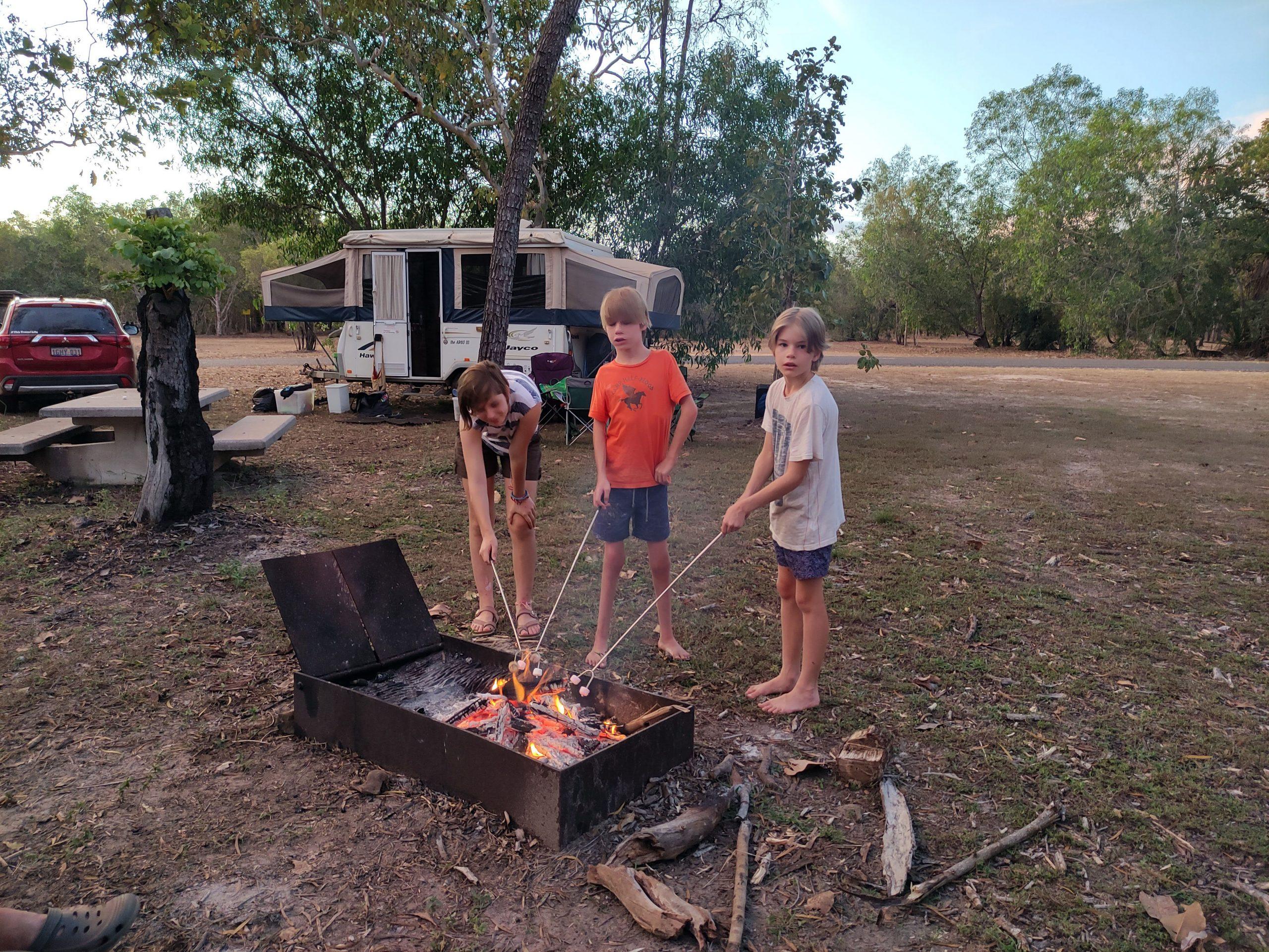 Toasting Marshmellows at Kakadu