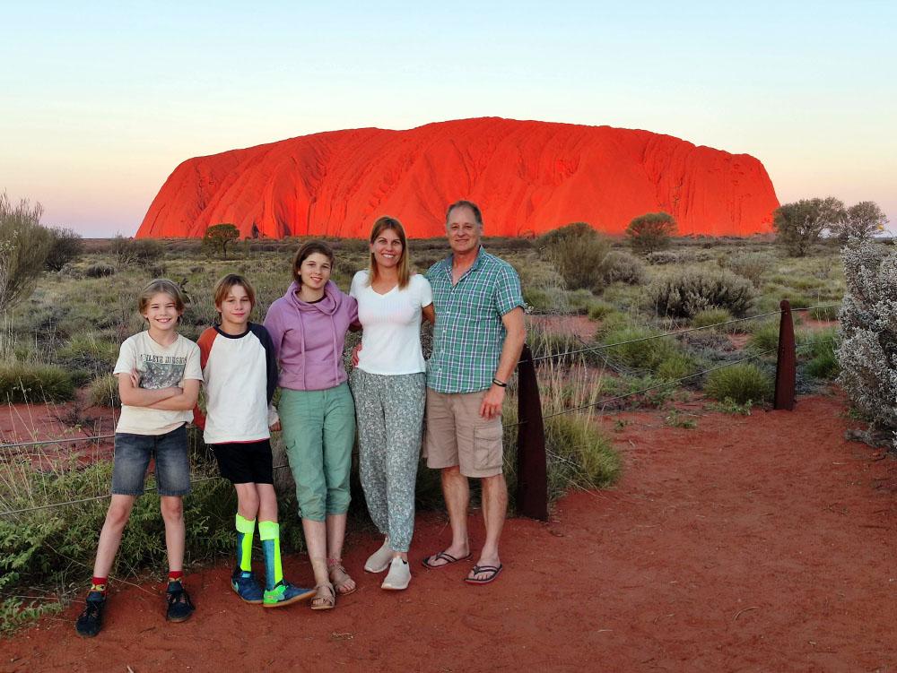Uluru Family Sunset
